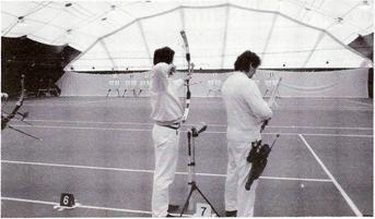 Valter Ambrogiani e Sante Spigarelli impegnati in una eliminatoria diretta
