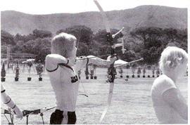 Nazionale USA ai Campionati Mondiali di Punta Ala. Qualsiasi situazione del gomito e spalla dell'arco se gestito adeguatamente consentono alti livelli di prestazione